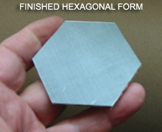 Finished hexagonal form