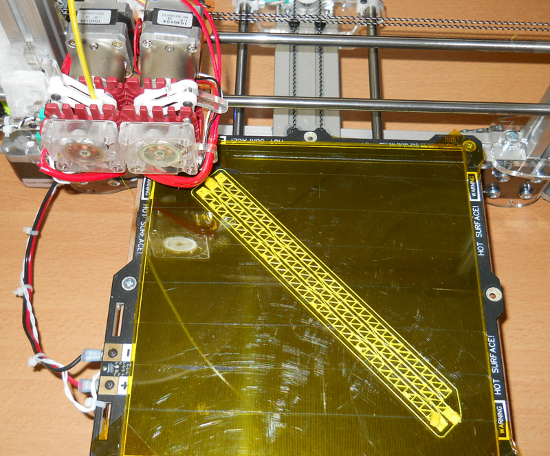 An SCI-Quality 3D Printer File Being Printed