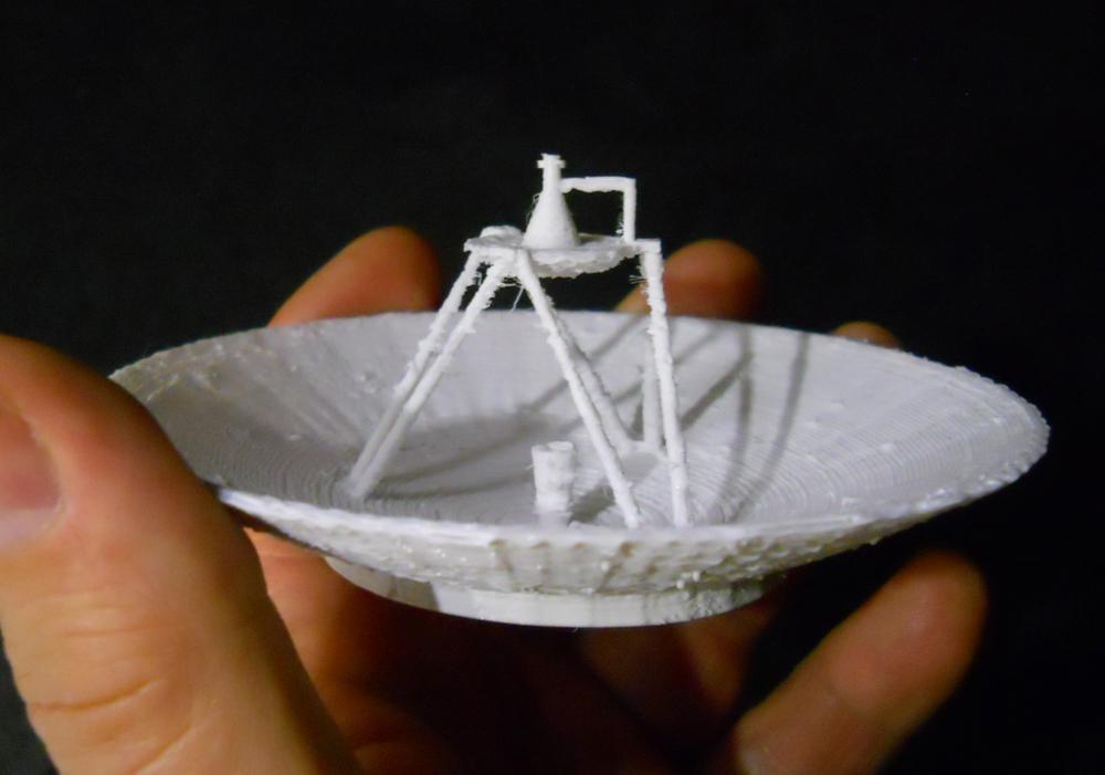 3D-printed Voyager HGA