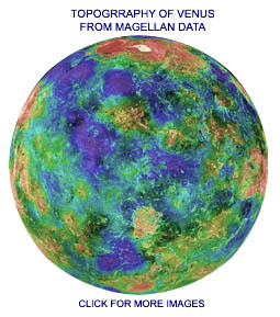 Magellan's Venus Surface Map